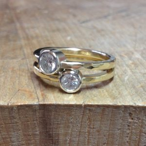 HJ_BESPOKE_18ct Gold and Diamond Stacking Rings2