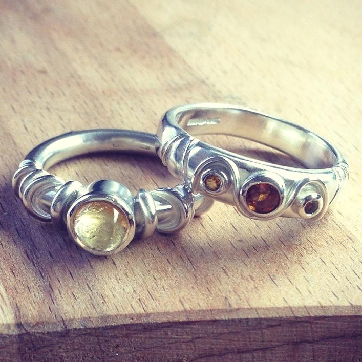 HJ_BESPOKE_Citrine and Amber Wedding Bands2