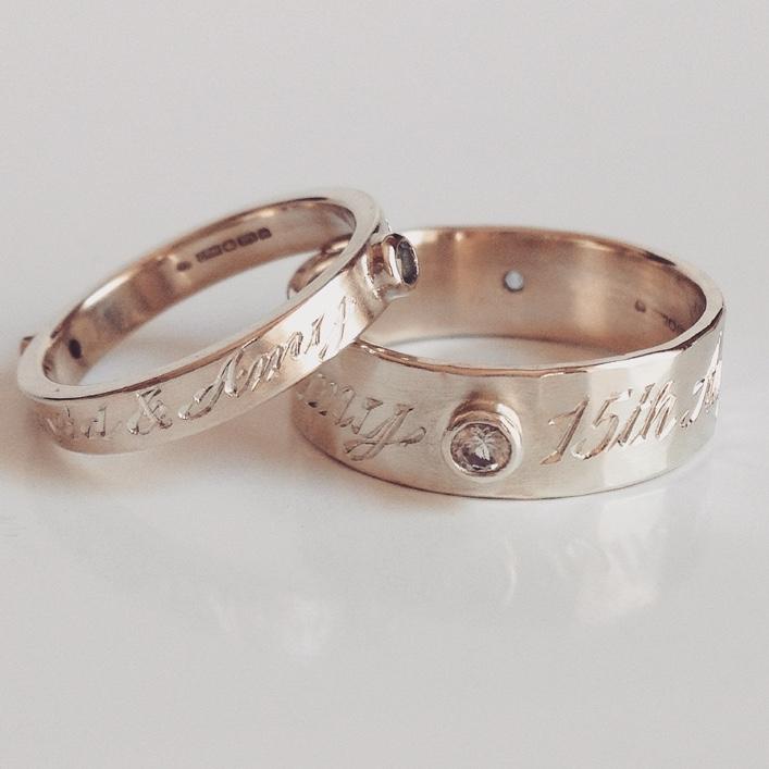 HJ_BESPOKE_Gold Engraved Wedding Bands1