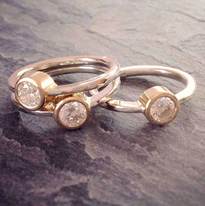 HJ_BESPOKE_Gold and Diamonds Trip Wedding Anni Stack Rings2