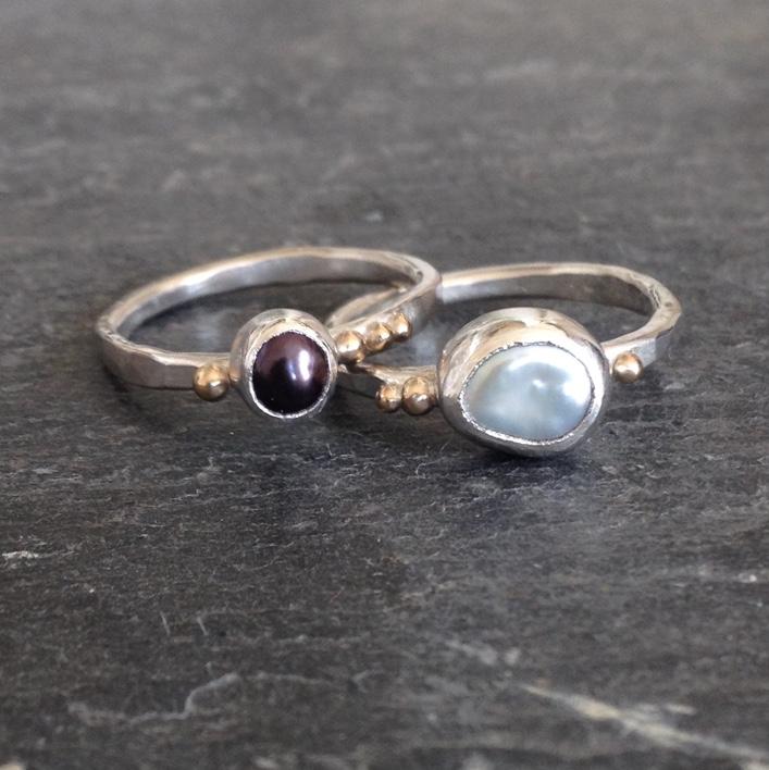 HJ_BESPOKE_Pearl Ring Stack