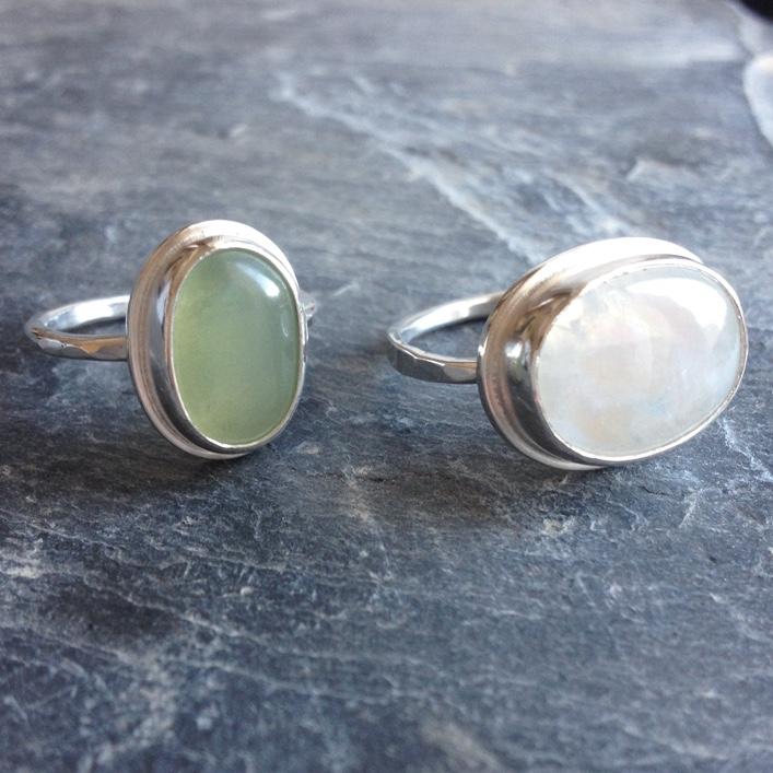 HJ_BESPOKE_Rainbow Moonstone and Jade Rings