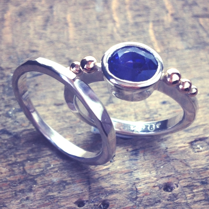 HJ_BESPOKE_Sapphire Wedding and Engagement Rings1