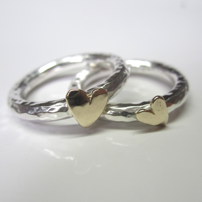 HJ_BESPOKE_Silver with 9ct gold Hearts