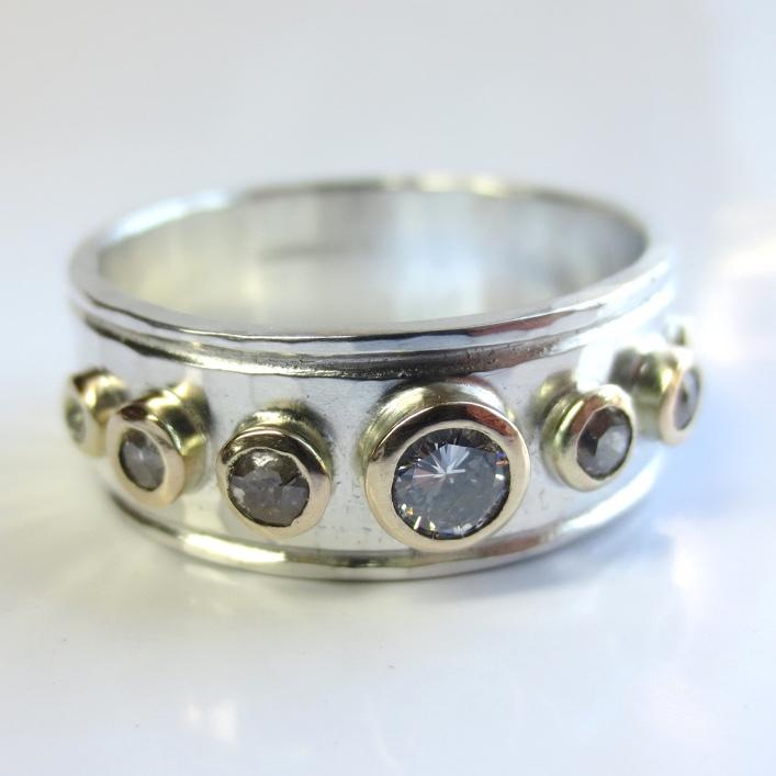 HJ_BESPOKE_Silver wth Diamonds Set in Gold