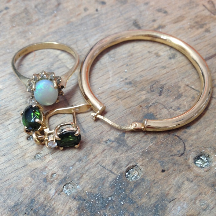 HJ_BESPOKE_Tourmaline, Opal and Granulation Stacking Rings1