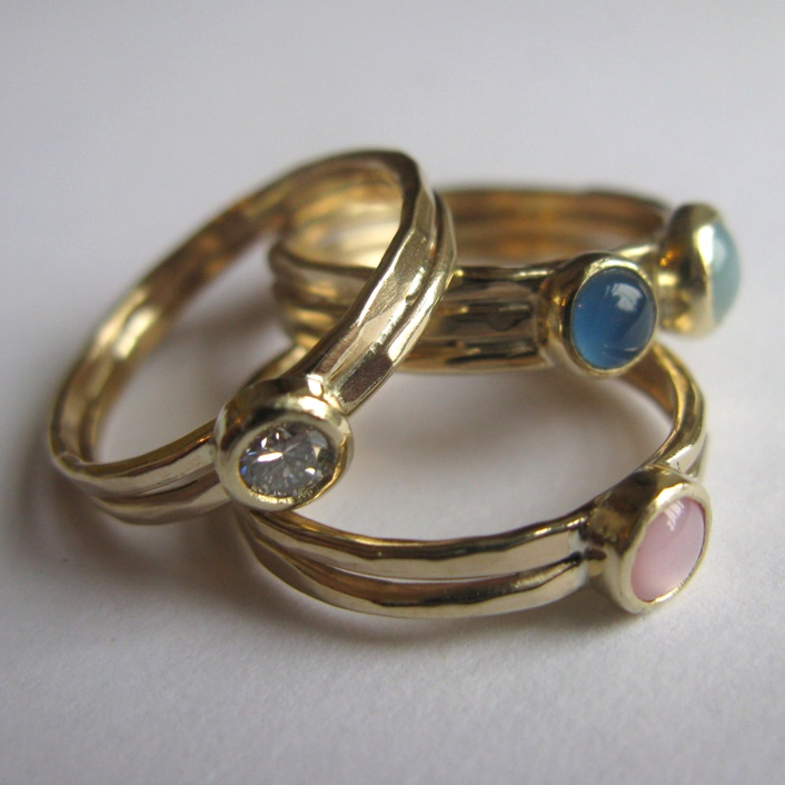 HJ_BESPOKE_Gold Multi Stack Ring