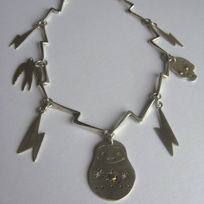 HJ_BESPOKE_Russian Doll Lighting Strike Necklace