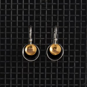Earrings-Enamel Drop-Black-Large