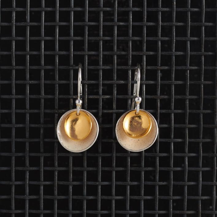 Earrings-Enamel Drop-Ivory-Large