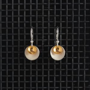 Earrings-Enamel Drop-Ivory-Small