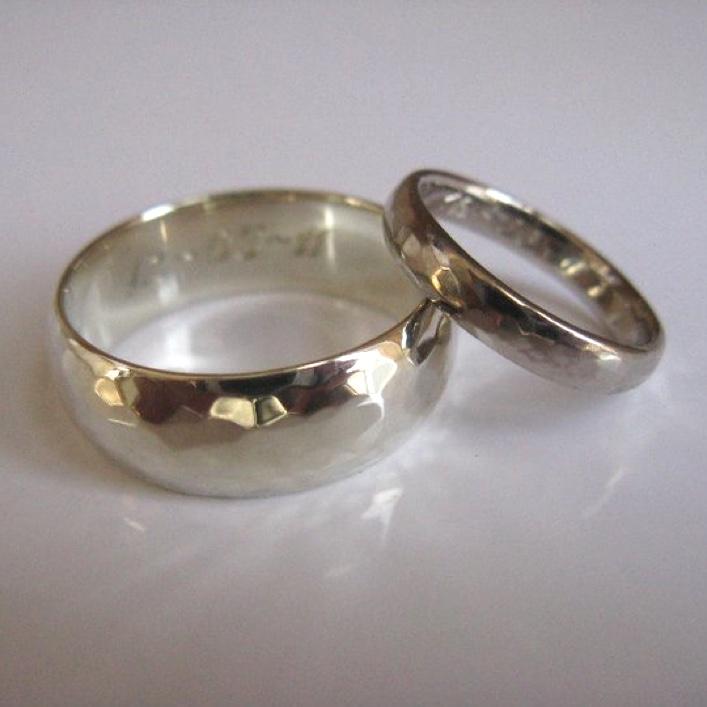 HJ_BESPOKE_18ct White Gold Wedding Bands