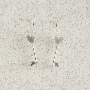 Earrings-Charm Drop-Key-Silver