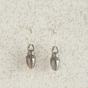 Earrings-Charm Drop-Stag-Silver