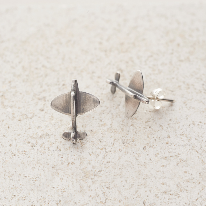 Earrings-Charm Stud-Spitfire-Rose