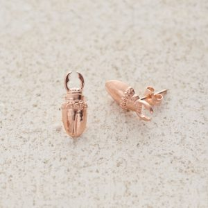 Earrings-Charm Stud-Stag-Rose