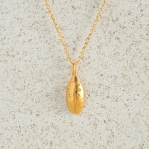 Necklaces-Charm Pendants-Beetle-Gold