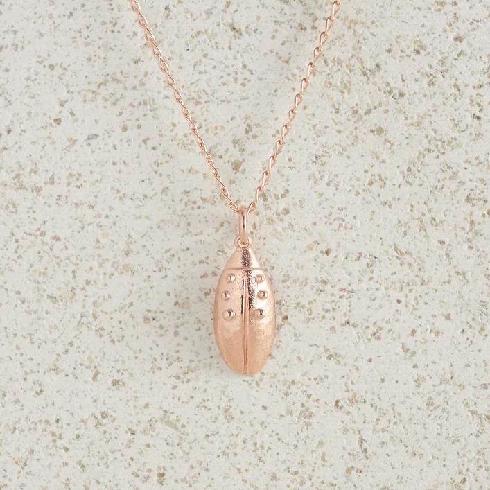 Necklaces-Charm Pendants-Beetle-Rose