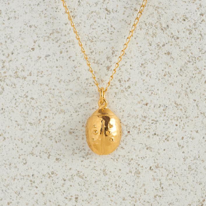 Necklaces-Charm Pendants-Ladybird-Gold