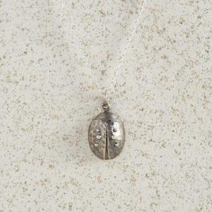 Necklaces-Charm Pendants-Ladybird-Silver