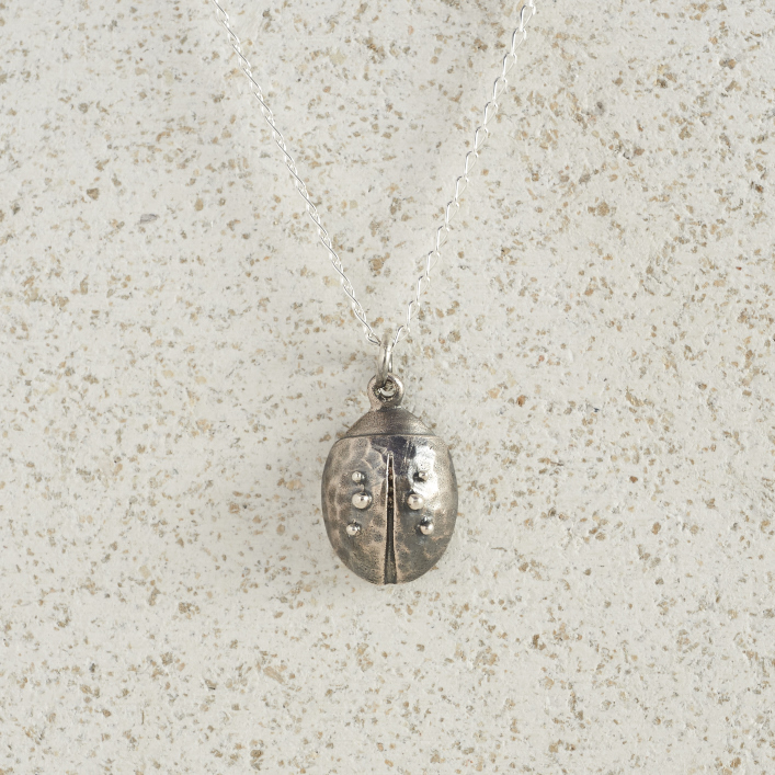Necklaces-Charm Pendants-Ladybird-Silver
