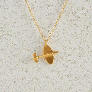 Necklaces-Charm Pendants-Spitfire-Gold