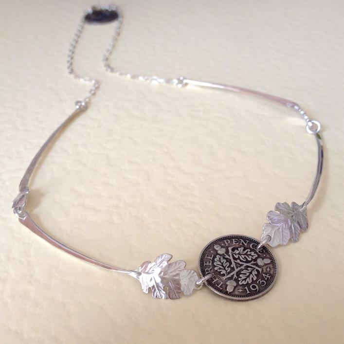 HJ_BESPOKE_Coin and Oak Leaf Neckpiece 2