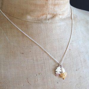 HJ_BESPOKE_Oak Leaf & Gold Acorn Pendant