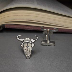 Sherlock-Bison-Skull-Cufflinks