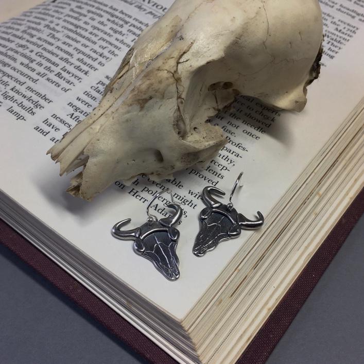 Sherlock-Bison-Skull-Earrings