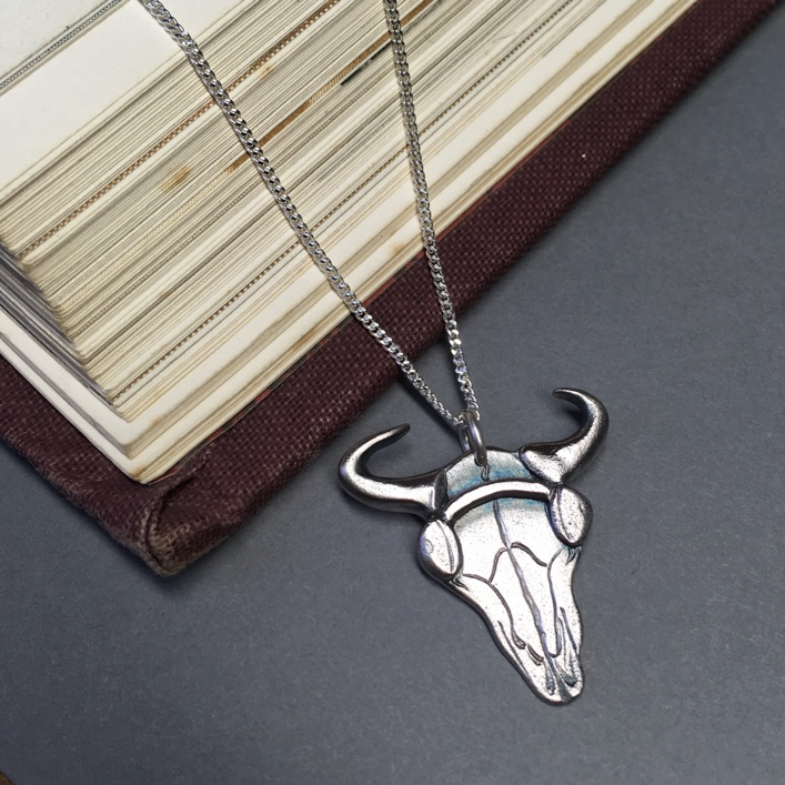 Sherlock-Bison-Skull-Pendant