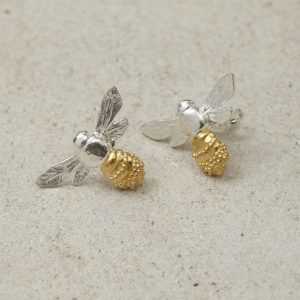 HJ_SHOP_HONEYBEESTUDS_SILVERANDYELLOWGOLD_PRODUCT